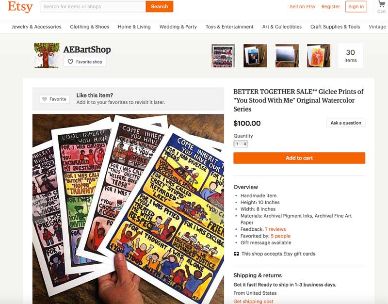 AEB Art Shop on Etsy